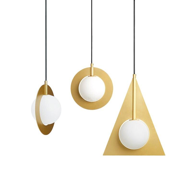 Золотой Цвет Открытый Подвесные Светильники Глобусы Стекло повесить ресторан лампа светильник подвесной светильник висит Подвеска Свет К