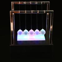 High quality 15cm Newton's Cradle Steel Balance Ball Physics Pendulum Toy Nightlight Upgrade Touch Ball Perpetual Ornament Decor