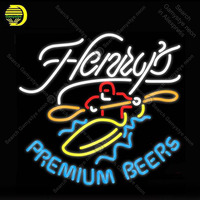 Henrys Premium Beers Neon Sign Glass Tube Handmade Atarii neon light Sign Decorate Hotel Beer Iconic Neon Light Lamps Advertise