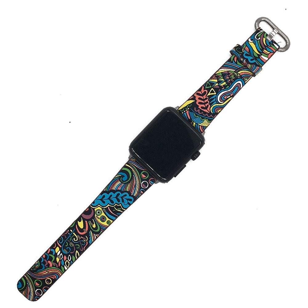 Floral Print Band for Apple Watch 34