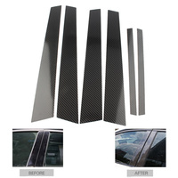 Janela do carro automático b-pilares moldando protecter guarnição capa para bmw série 3 e46 1998-2004 fibra de carbono abs acessórios