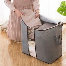 2019 Nuevo Organizador bolsa de almacenamiento de gran tamaño ropa edredón empaquetado casa cargado colcha ropa impermeable Organizador caliente