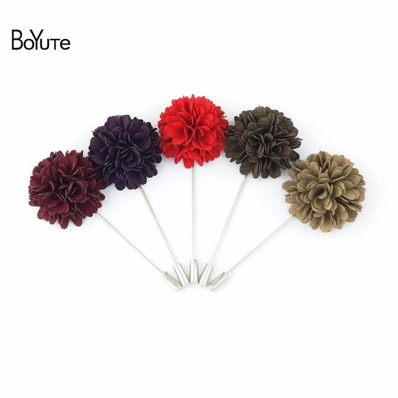 Men/'s Handmade Flower Lapel Pin Set of 4