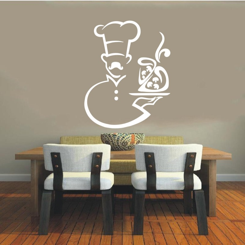 Wall Decal Vinyl Sticker Cook Chef Houseware Art Murals Design Interior Modern Cafe Dining Room Kitchen Wall Poster Decor WW-372
