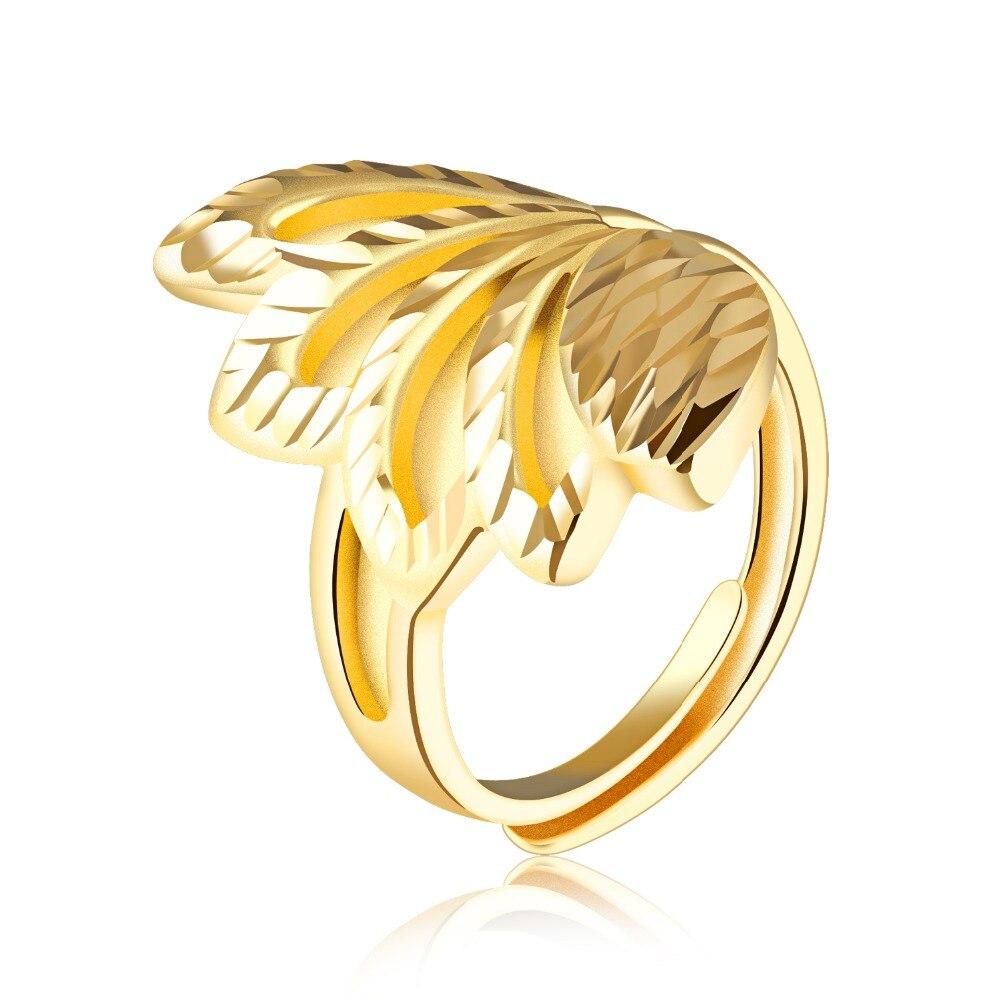 Медь покрытие кольцо открытие лепестки кольцо рот кольцо женский