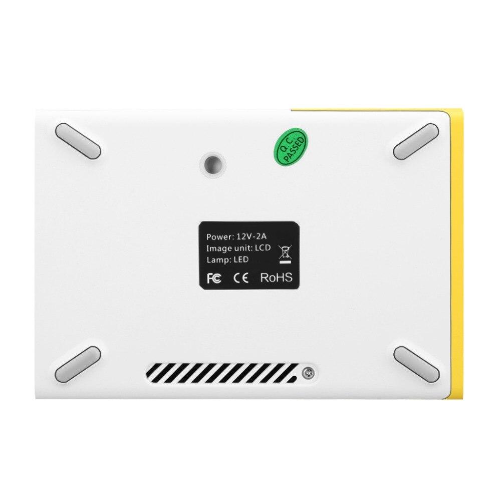 Новый excelvan yg300 мини жк-проектор 400-600 люмен 320 x 240 пикселей 3.5 мм аудио/hdmi/usb/sd входа СМИ proyector проектор