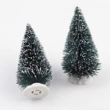Mini Artificial Christmas Tree Decoration Fake Plants Festival Table Miniature Ornament Decor
