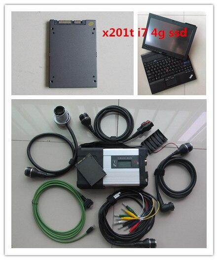 Mb star c5 avec le logiciel 2018.12 date super ssd avec ordinateur portable x201 4g i7 écran tactile tablet prêt à travail diagnostic pour mb