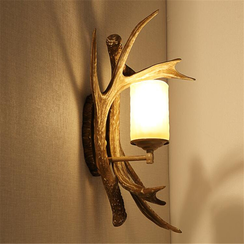 Antlers wall lights type retro bedroom lamp bedside lamp bar cafe decorations hone lighting creative antlers wall lamps ZA