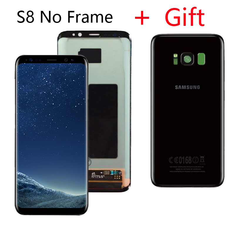 HTB1fKg8cMKG3KVjSZFLq6yMvXXac ORIGINAL LCD for SAMSUNG Galaxy S8 LCD Display G950 G950F S8Plus Lcd Display G955 G955F Touch Screen With Gift S8 Battery Cover