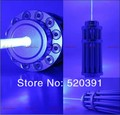 high power blue laser pointers 500000mw 500w 450nm Flashlight burning match/paper/dry wood/candle/black/cigarettes+glasses+gift