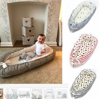 Baby Nest Bed New born Milk Disease Bionic Bed Crib Baby Cot Bb Sleep Artifact Bed Travel Bed With Bumper Baby Sleep Pod