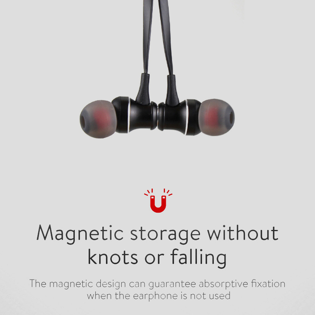 DAONO BT Bluetooth Earphone Sweatproof Gym Sport Wireless Music Magnet Headphones Music Stereo Earbuds Micro SD Card headset