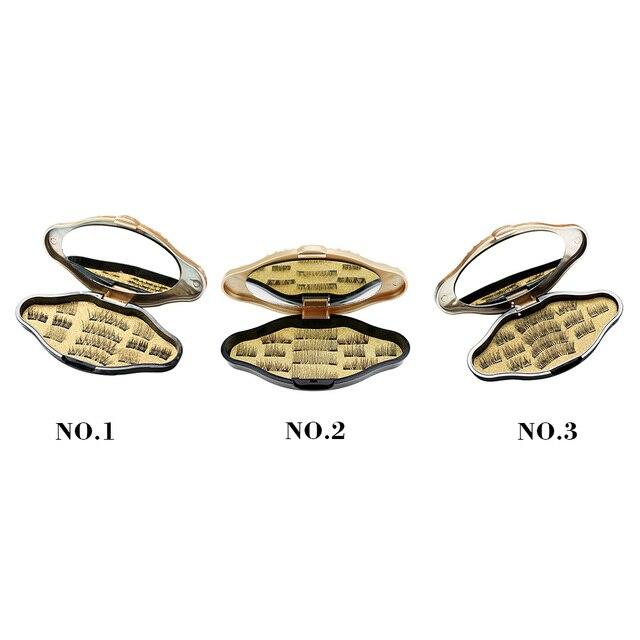 False Magnetic Eyelashes, 3D Reusable Fake 3