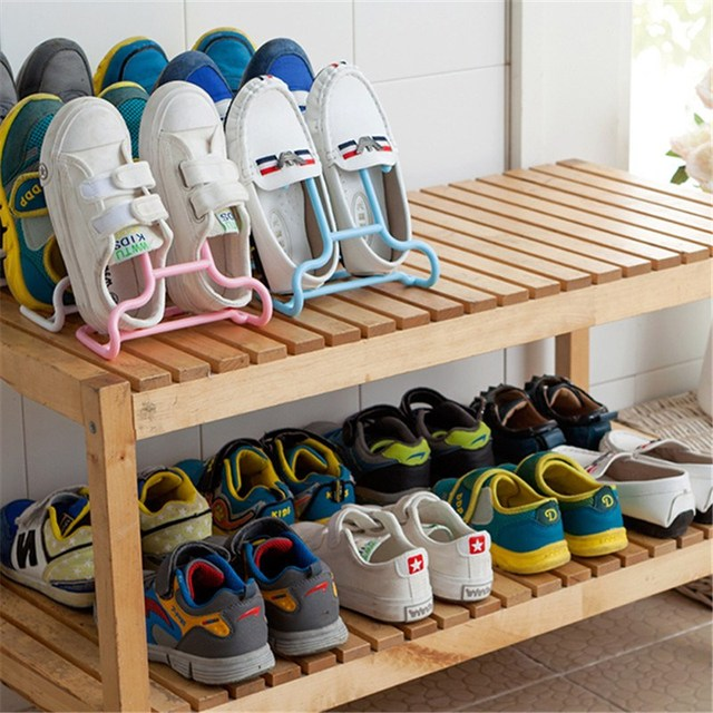 Convenient Practical Kids Shoes Drying Rack Hanging Storage Shelf Shoe Stand Hanger Children Wardrobe Organizer 2pcs