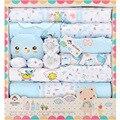 18 Pcs/lot Fashion Baby Warm Gift Set Baby Girls Clothing Sets Newborn Baby Clothes cotton Infant cartoon Unisex Baby Set TZ-007