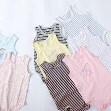 Bodysuit Summer Clothing Stripes Boys Kids Cotton Children Sleeveless And Pyjamas Multi-Colours