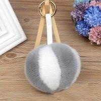 10 cm Puszyste Futro Bunny Rabbit Fur Ball Brelok Kolor Szwy brelok Futro Pompon Pom Pom Breloczek Brelok Urok Torba wisiorek