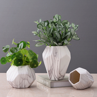 Europe Marble Ceramic Vase dried flower container Hydroponic flowerpot Tabletop flower vase crafts home decoration accessories
