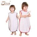 2016 Младенческой спальный мешок 100% Хлопок Муслин мешок ребенка спать дети slaapzak Конверт Для Новорожденных Ребенка Жилет типа спальный мешок