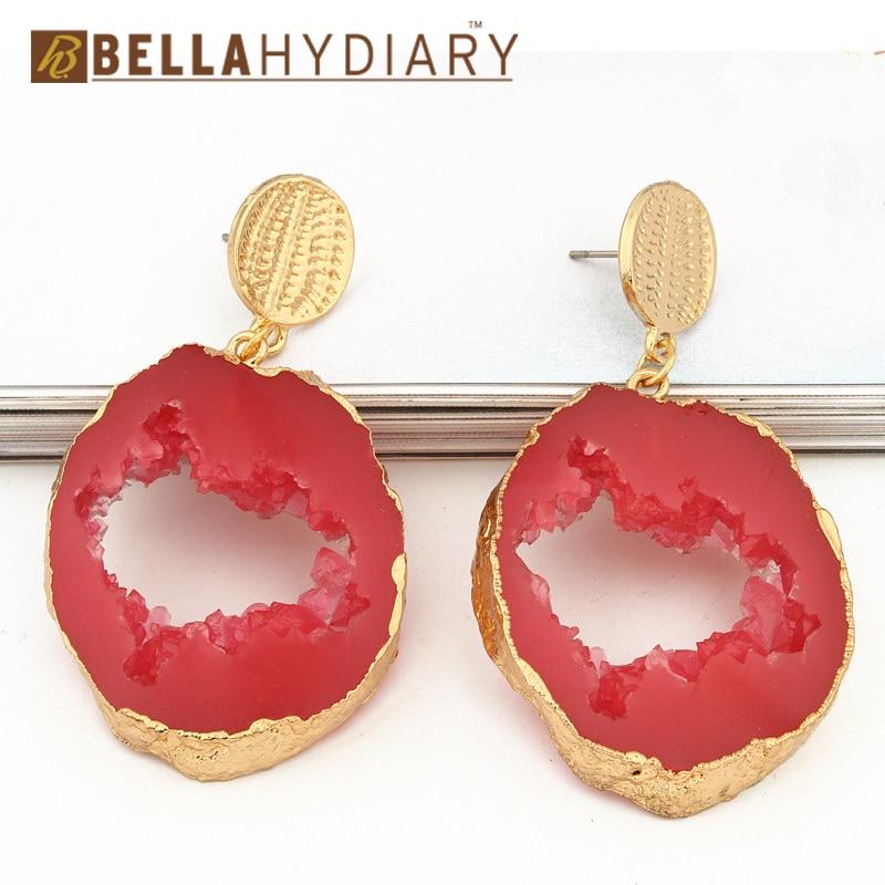 Druzy earrings resin earrings jewelry Ohrringe bijoux earings earring earing pendientes brinco big earrings vintage jewelry wedding earrings geometric earrings long earrings gifts for women (9)
