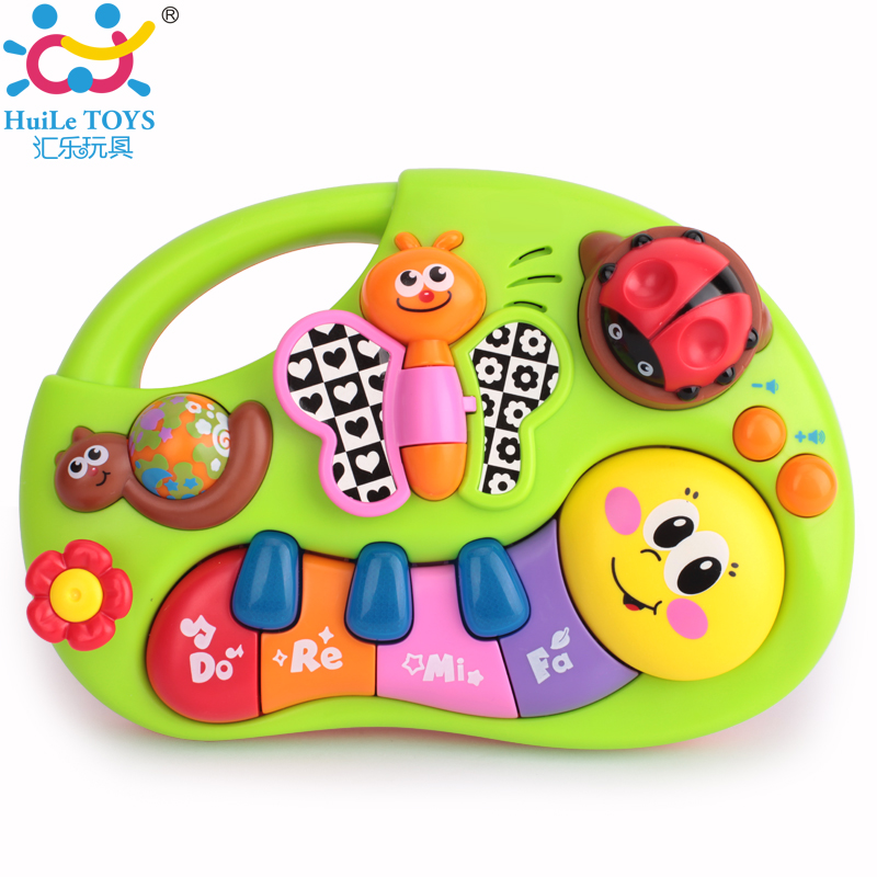 Toddler learning machine toy with lights music songs learning stories and more toy musical instrument huile
