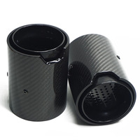1 Pair 67mmIN 92mmOUT 150mmL Carbon Fiber Exhaut tip for BMW M2 M3 M4 M135i M235i M140i M240i Mufflers Glossy Carbon Style Parts