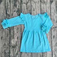 Wholesale Boutique Kids Baby Cotton Dress New Design Baby Girl Fall Dress Boutique Toddler Icing Flutter