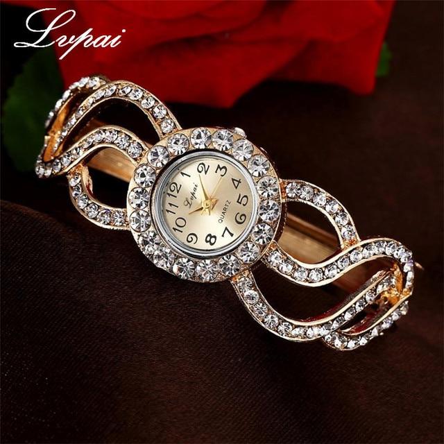 Lvpai Women Watches 2017 Rhinestone Bracelet Wristwatches Fashion Classic Ladise