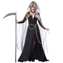 b595acfefc 2018 New Halloween Witch Devil Cloak Uniform Costume Black Dress Anime  Cosplay Funny Halloween Costumes For