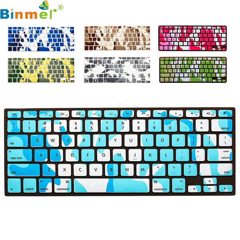 Binmer Factory Price Soft Keyboard Silicone Cover Case Protect Skin For MacBook Pro 13-15 AA June13 Drop Shipping