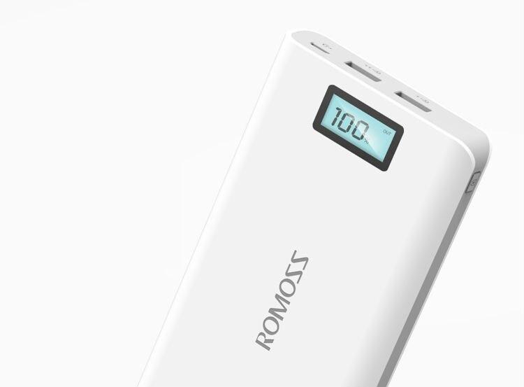 Original Romoss Sense 6 Plus Dual USB 20000mAh 18650 Power Bank 3
