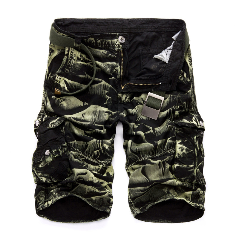 Cargo Shorts Men Cool Camouflage Summer Hot Sale Cotton Casual Men Short Pants Brand Clothing Comfortable Camo Men Cargo Shorts 5