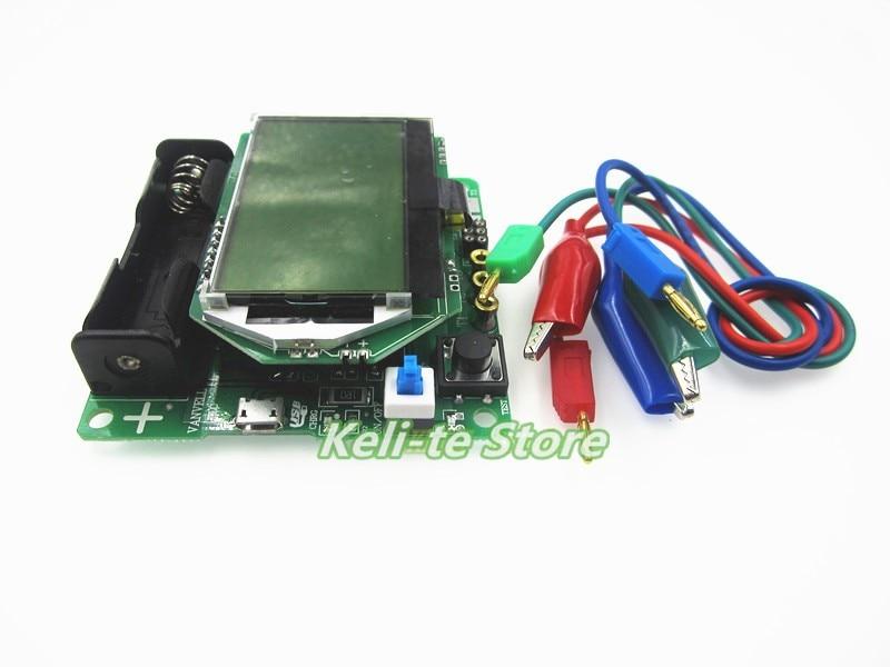 Free shipping 1pcs  New 3.7V version of inductor-capacitor ESR meter DIY MG328 multifunction transistor tester s1008r 102k inductor mr li