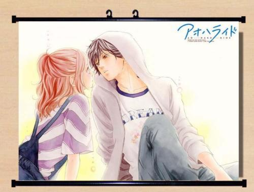 US $24 29 10% OFF|Blue Spring Ao Haru Ride Home Decor Anime Japanese Poster  Wall Scroll Hot B004-in Painting & Calligraphy from Home & Garden on