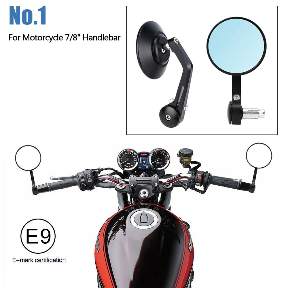 """Carbon 3/"""" 7//8/"""" Handlebar Bar End Convex Mirror For Honda Kawasaki Suzuki Yamaha"""