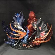 Аниме Саске и Учиха Итачи Наруто Коллекция действие модель рисунок Окрашенные игрушка в подарок 21,5 см с коробкой
