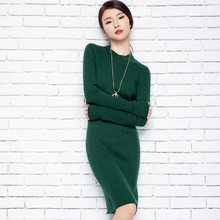 1989e69a32e3 Nueva 2017 mujeres vestido de moda elegante sexy caliente color sólido  vestido con mangas largas(