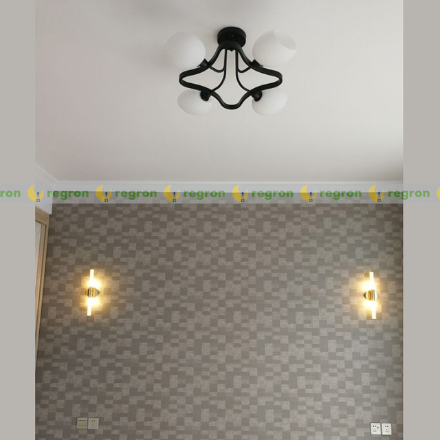 Home 2-head G9 Led wall sconce picture lights Bedroom mirror Wall Lamp postmodern Wrought Iron Corridor indoor ligting fixtures