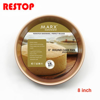 8 Inch Round Cake Mold 100 Heavy Carbon Non Stick Baking Tool Cake Moulds Cake Pan