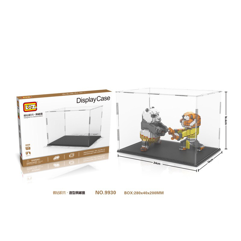 Model Building Responsible Loz Ideas Display Case For Diamond Blocks Assembly Figures Buildings Transparent Display Box Accessories Nano Pixels Toys 9930 Cheapest Price From Our Site