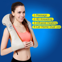 Multifunction Health Care Equipment Car Home Dual Use Massager Acupuncture Kneading Neck Shoulder Massager MBO 12