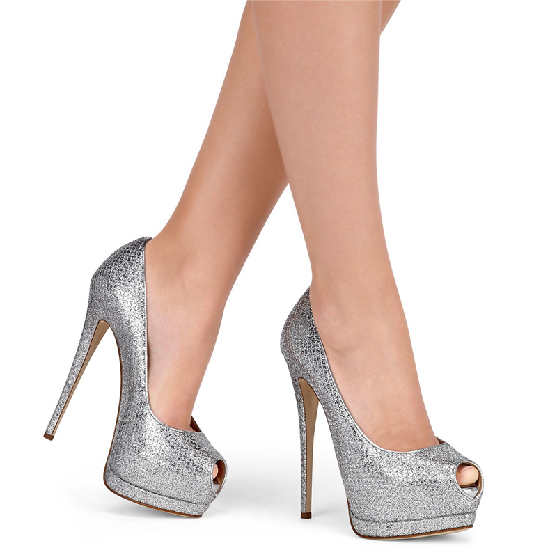 Odetina 2018 Brand Plus Size Women Sexy Open Toe High Heels Platform Shoes Pumps Stiletto Heel Super High Peep Toe Party Shoes