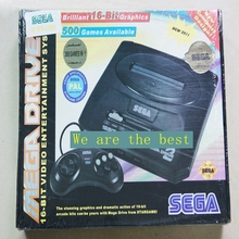 Sega MD retro game machine Black 16bit video game double game