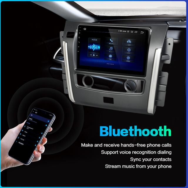 Fongent Radio Auto Car Multimidia Android 9.0 Head Unit for Nissan Patrol 2018 GPS Car Bluetooth 10.2″ IPS Intertainment system