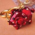 2016 каваи большие уши розовая свинья брелки эмаль красочные брелоки аксессуары Mujer Chaveiro игры крест Bijuterias 7 цветов ору