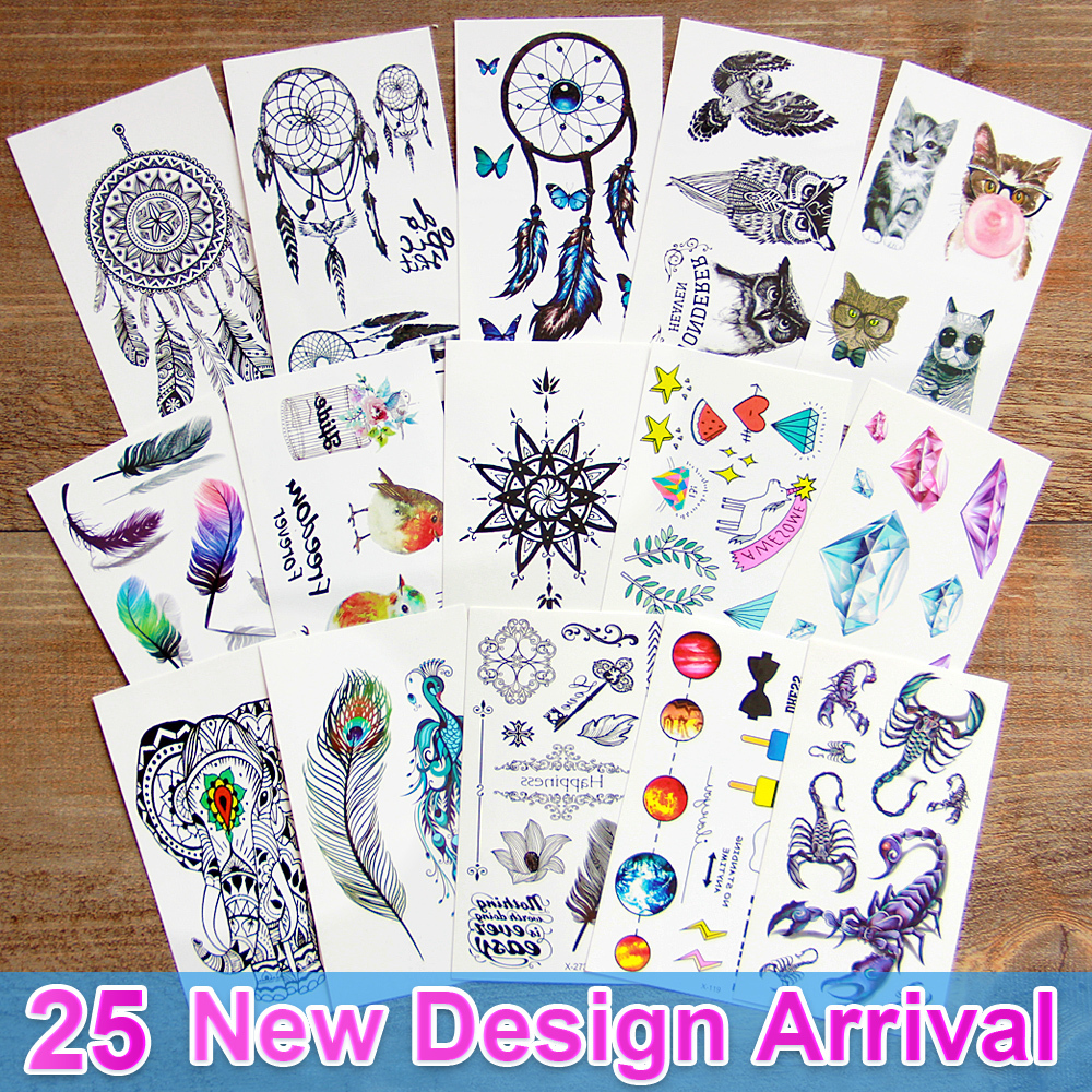 3d dream catcher  Waterproof Temporary Tattoos dreamcatcher flash Tattoo stickers body art for women transferable fake tattoo maluokasa 1pcs handmade indian dream catcher net with feathers wind chimes wall hanging dreamcatcher car ornaments decoration
