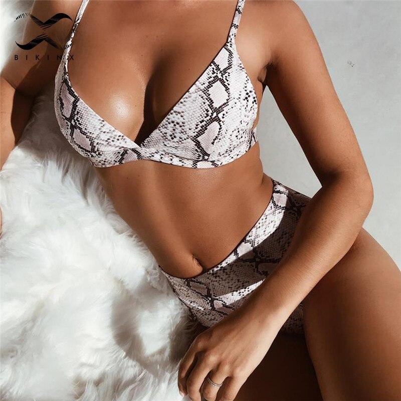 Bikinx Leopard extreme bikini micro badegäste Hohe taille badeanzug push-up dreieck bademode sexy badeanzug weibliche Bikinis 2019 neue