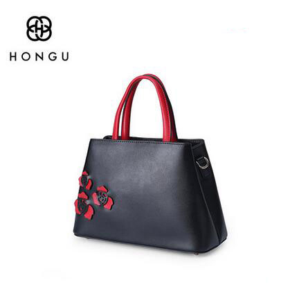HONGU 2018 new small bag leather handbag fashion ladies shoulder Messenger bag handbags @ 2018 new female bag korean version of the striped shoulder messenger bag small fashion handbags ladies wrist bag