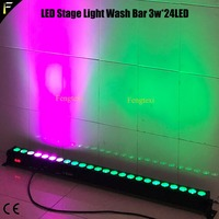 1unit LED Wash Light Linear Bar Each 3w 24LED Lamp Components 3w*24 LED RGB 3in1 Stage Flood/Back Wall Wash Light Stage Deco